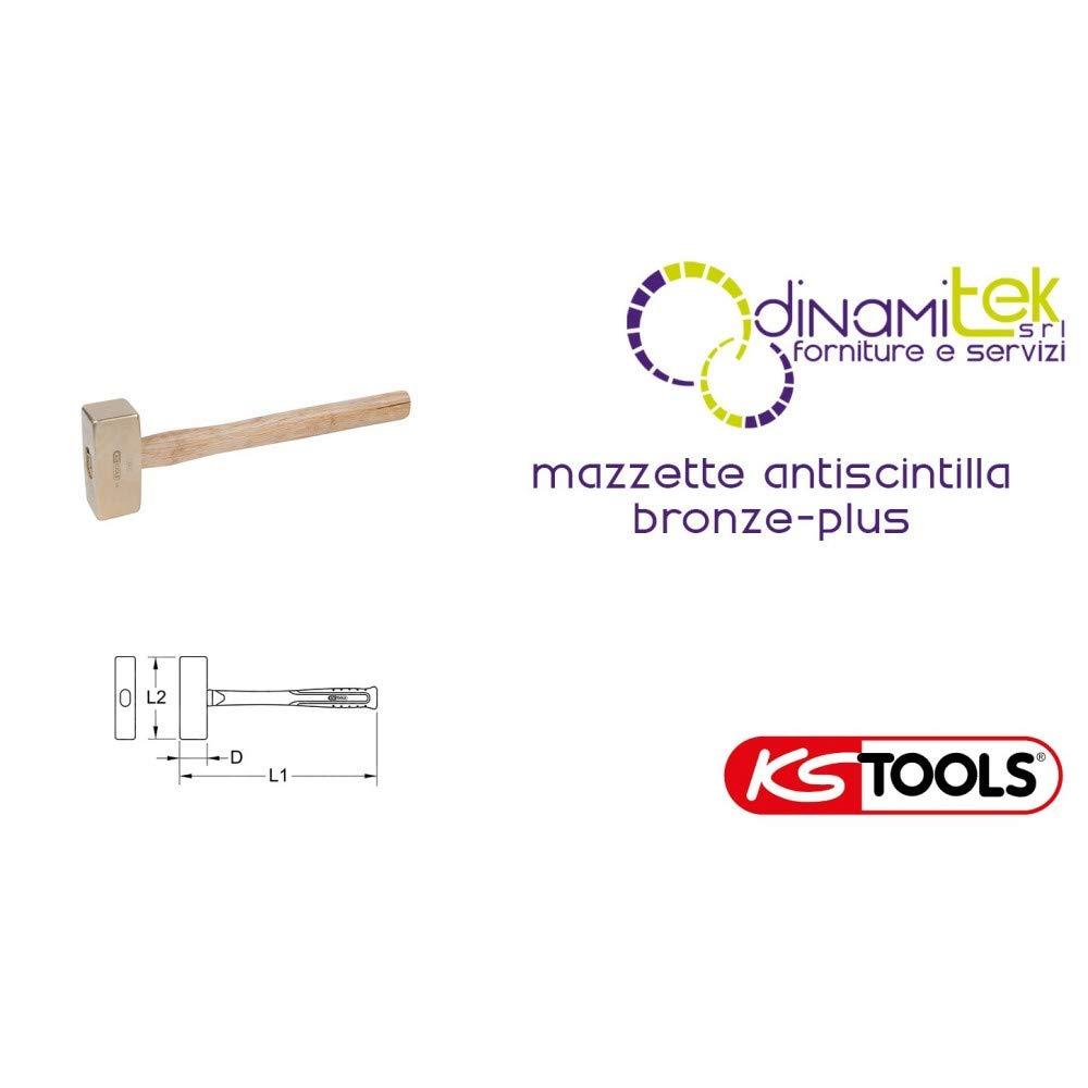 BRONCE Club de martillo de 1,000 g mango de nogal KS Tools 963.2050