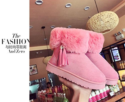 Velluto da Casual Scarpe Stivaletti pink Caldo neve per invernali donna Moda donna da Stivali stivali Stivaletti Suola Sport Scarpe spessa KUKI da più fqSzwPZ