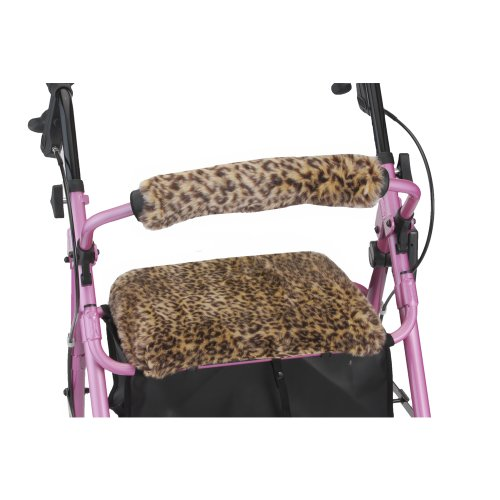 NOVA Rollator Walker Seat & Back Cover, Safari Cheetah by NOVA Medical Products