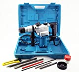"Heavy-Duty 3-Function 1"" Impact Hammer Drill, SDS-Plus Bits, Chisels"
