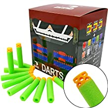 "EKIND 200 Pcs 7.2cm New Design TPR ""Waffles"" Soft Head Darts Refill Foam Bullet for Nerf N-strike Elite AccuStrike Guns(Green)"