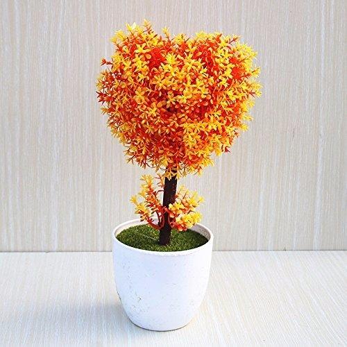 MEILI FLOWER Emulazione di piante di fiori, piccoli vasi di piante in una piscina salotto verde piantare fiori decorazioni oscillare in modo semplice