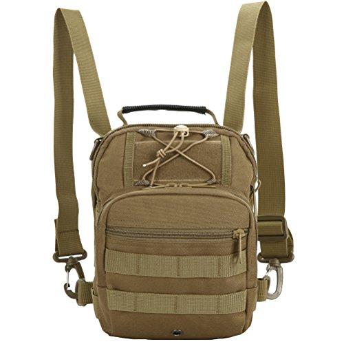 MatchLife - Bolso al hombro para hombre Camouflage4 caqui