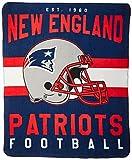 The Northwest Company NFL New England Patriots Singular Fleece Throw,...