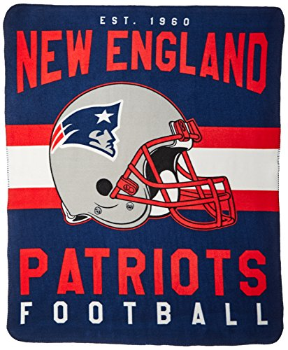 England New Patriots Blanket Soft (The Northwest Company NFL New England Patriots Singular Printed Fleece Throw, Blue, 50