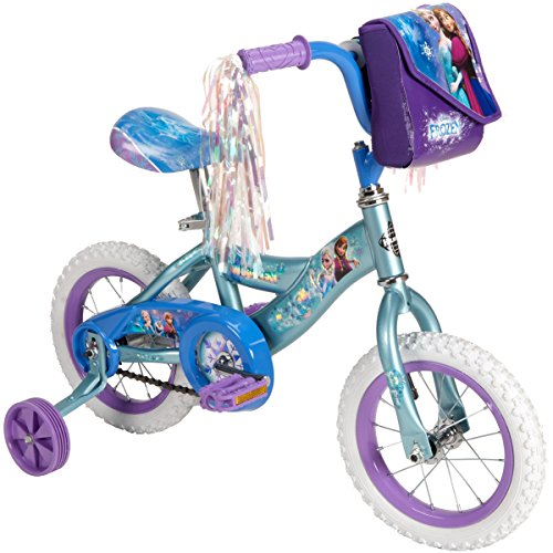 Disney Frozen 12-inch Bike by Huffy, Recommended for Ages 3-5 and a Rider Height of 37-42 inches, with Fun Graphics of Elsa, Anna, and Olaf, Style 22235 by Huffy (Image #2)