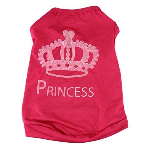 Image of HP95 TM Fashion Pet Dog Cat Cute Princess T-shirt Clothes Vest Summer Coat Puggy Costumes (S)