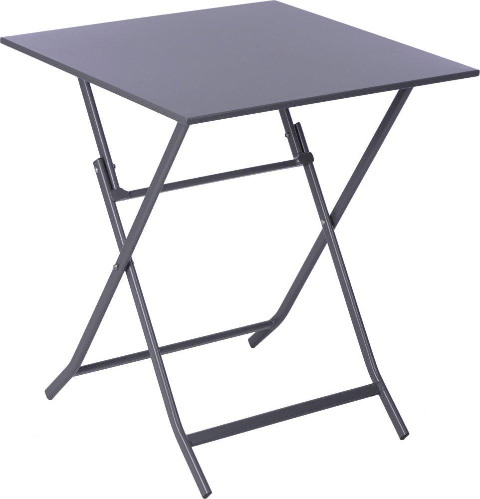 NACH ki-2038 Bistro Style Foldable Metal Table Grey