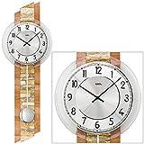 AMS Uhrenfabrik Clock, Silver, 67 x 8 x 356 cm