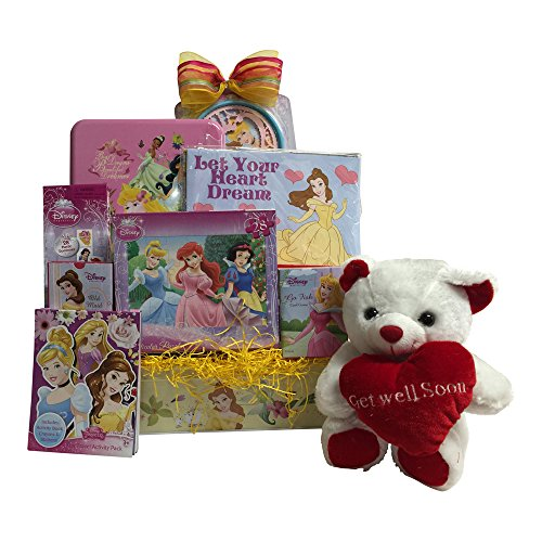 Disney Princess Get Well Gift Basket for Girls Candy and Activities (Disney Gift Baskets)