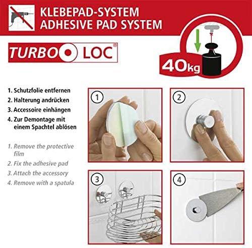 Turbo-Loc/® Toallero aro Orea Brillante Acero Fino