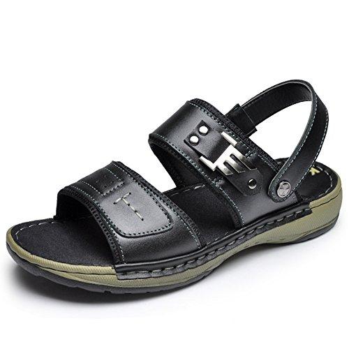 da Nero spiaggia marrone da Sandali nero movimento fondo HUO aperta UK6 morbido CN40 dimensioni con impermeabili casual scarpe 5 da Colore EU39 scarpe uomo Sandali all'aria morbide 61xqAzw