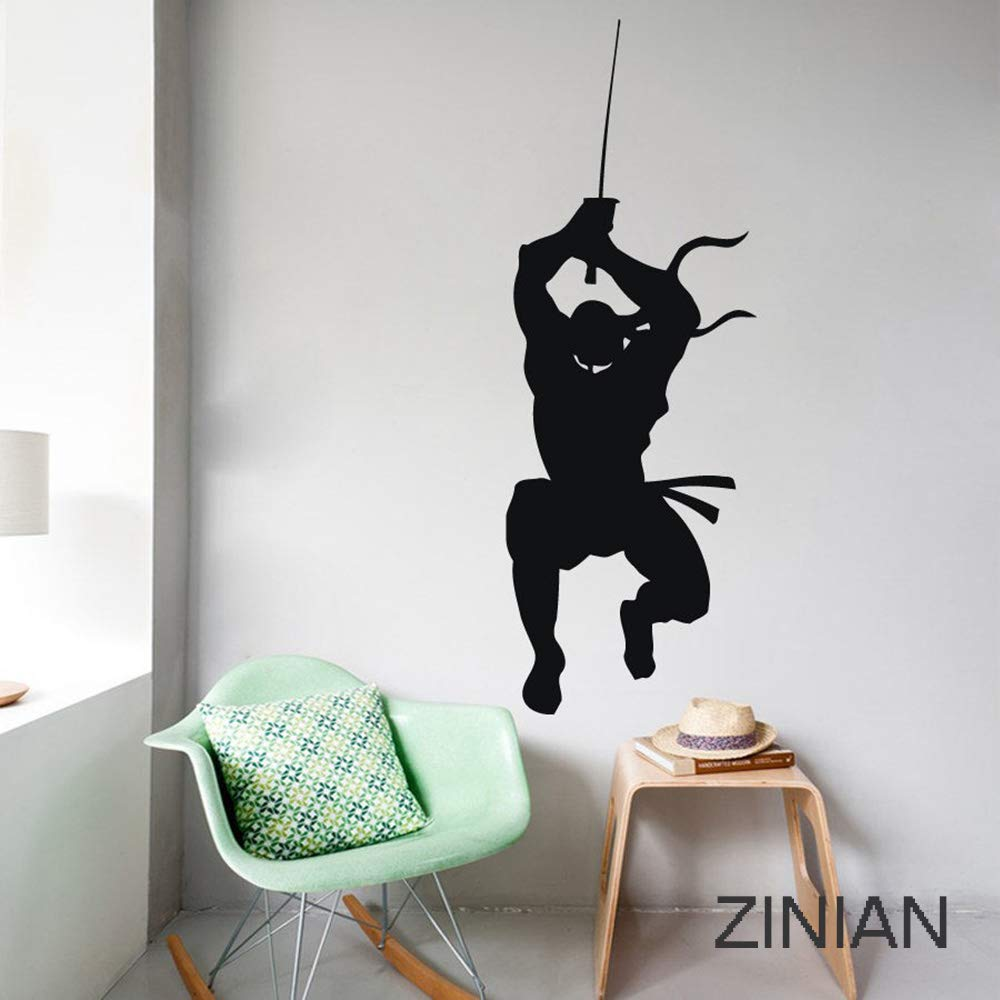 Vinyl Wall Decal Stickers Japanese Ninja Fighter Wall Stickers Living Room Bedroom Wall Art for Wall Decoration
