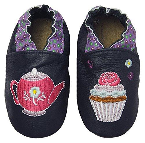 Rose & ChocolatRCC Sweet Tea - pantuflas de aprendizaje Bebé-Niños Azul (navy)