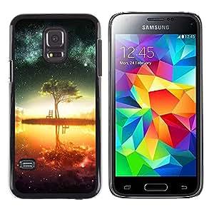 LauStart ( Resumen Galaxy Lago ) Samsung Galaxy S5 Mini (Not S5), SM-G800 Arte & dise?o pl¨¢stico duro Fundas Cover Cubre Hard Case Cover para