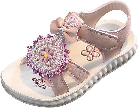 Toddler Infant Little Kids Baby Girls Flower Single Princess Party Shoes Sandals