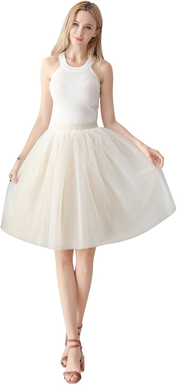 ShowYeu Damen Tüllrock Tutu Festlich Petticoat 12er Jahre Retro-Faltenrock  Party Hochzeit Cocktail Tanz-Kleid Lolita Ball Gown Dress