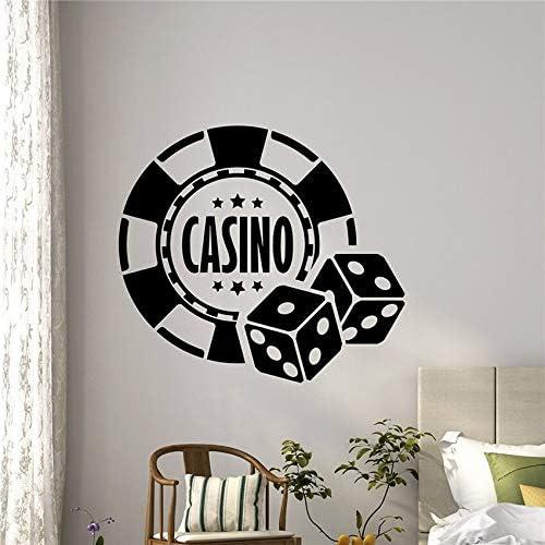 hetingyue Dice Casino Wall Decal Room Juego de póker Juego de póker Arte Habitación para Adolescentes y niños Etiqueta de la Pared Etiqueta de la Pared removible 87x97cm: Amazon.es: Hogar