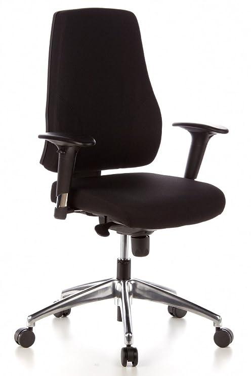 hjh OFFICE Pro-Tec 200 Silla de Oficina, Poliéster, Negro, 78x66x39 cm