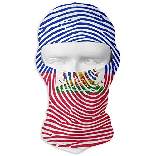 - LzVong Haitian Flag Fingerprint Outdoor Sun Full Face Mask Hood Breathable Headcover Headband Paintball Mask Cycling Ski Balaclava Mask