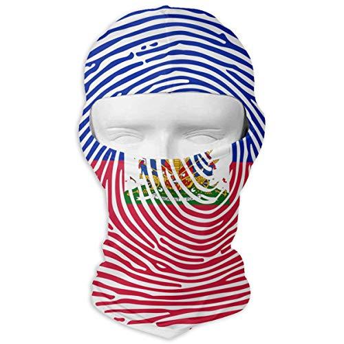 - LzVong Haitian Flag Fingerprint Outdoor Sun Full Face Mask Hood Breathable Headcover Headband Paintball Mask Cycling Ski Balaclava Mask