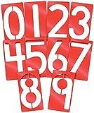 "Roylco R58621 Heavy Duty Big Number Stencil, Plastic, 5"" x 9"" Size"