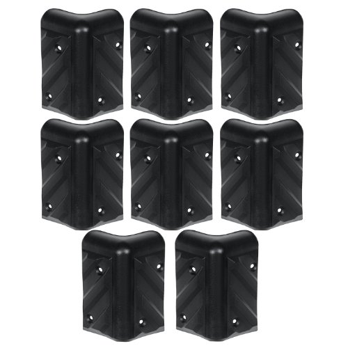 Reliable Hardware Company RH-1610-8-A Stackable Chevron Corner Durable HDPE Plastic Case, Set of 8