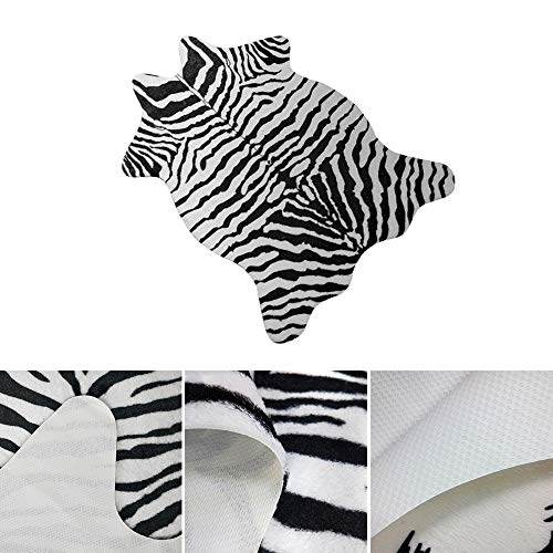 - Umiwe Zebra Rug 3.6 x 2.4 Feet (110 x 75cm) Non-Slip Faux Fur Zebra Print Area Rug Mat Carpet for Home Bedroom Livingroom Office