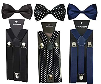 SunShopping Y  Back Suspenders for Men  Black, Blue, Multicolor  Belts