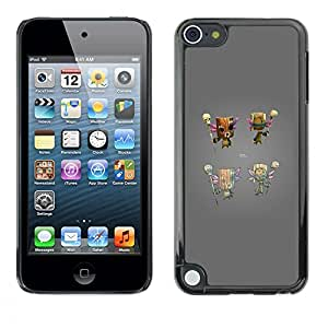 Plastic Shell Protective Case Cover || Apple iPod Touch 5 || Console Grey Character @XPTECH