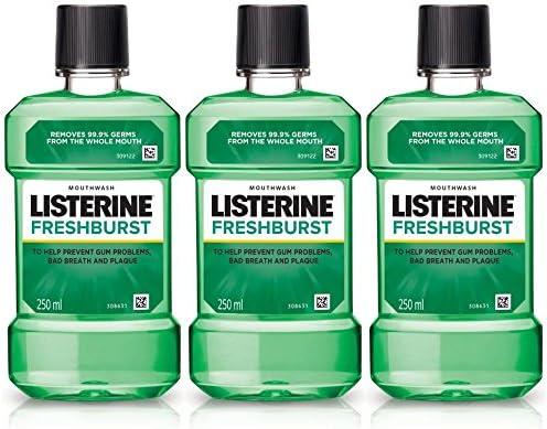Listerine Fresh Burst Mouthwash - 250Ml (Buy 2 Get 1 Free)