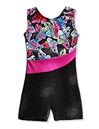 Kidsparadisy Girls Gymnastics Leotards Shine Dance Camisole Athletic Biketard