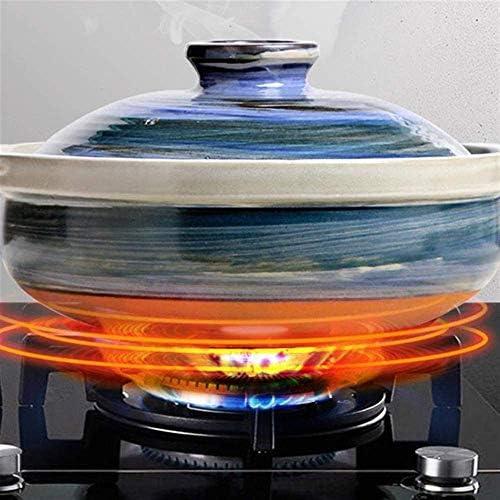 ZJZ Casserole en céramique Pot à ragoût en Terre Cuite Casserole en céramique Cuisson à Haute température, sûre et Durable, 2L
