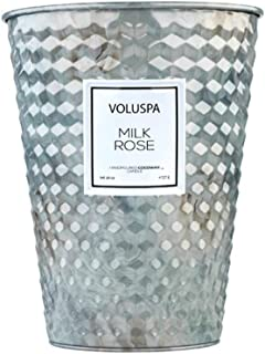 product image for Voluspa Milk Rose 2 Wick Table Tin Candle, 26 Ounces