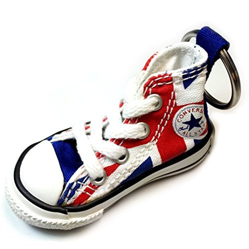 Converse Key Chain All Star Chuck Taylor Sneaker Keychain Authentic (British Flag)
