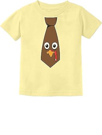 24b70b59 Funny Thanksgiving Turkey Face Tie Cute Toddler Kids T-Shirt 2T Banana