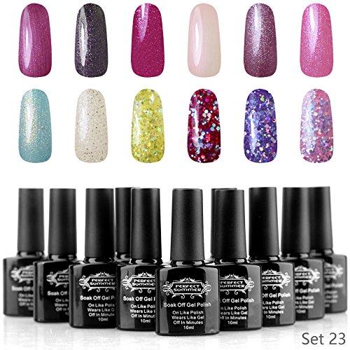 Perfect Summer Gel Nail Polish UV LED Soak Off Glitter Holog