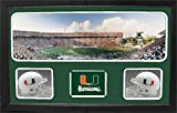 Encore Select 657-07 NCAA Miami Hurricanes Custom Framed Sports Memorabilia with Two Mini Helmets Photograph and Name Plate