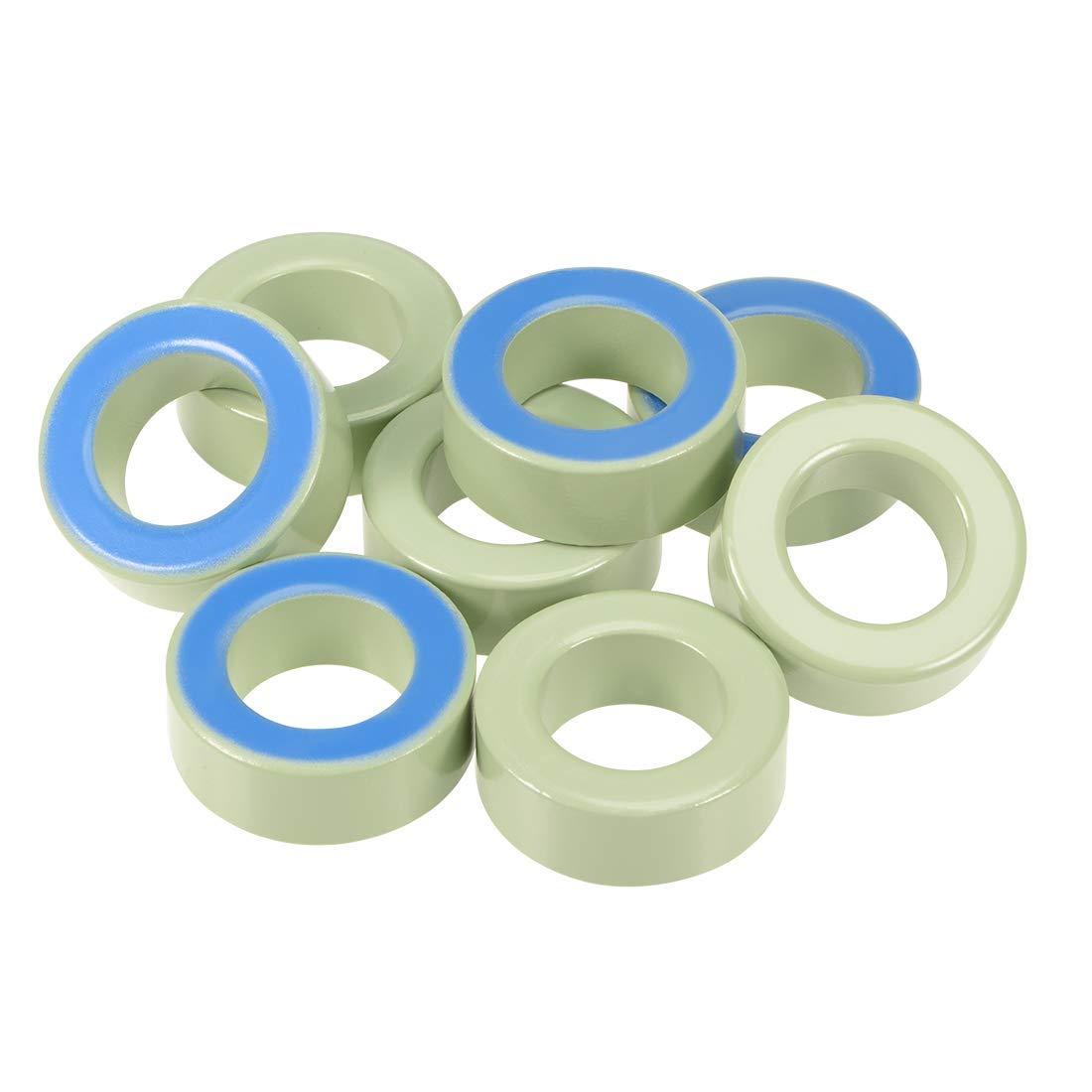 ZCHXD Toroid Core, Ferrite Chokes Ring Iron Powder Inductor Ferrite Rings, Light Green Blue 8pcs, 26.9 x 45 x 16.8mm