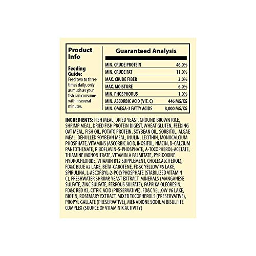 Picture of TetraMin Nutritionally Balanced Tropical Flake Food for Tropical Fish, 4.52-Pound