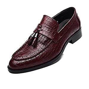 Best-choise Zapatos de tacón Block de Cuero de PU para Hombres Zapatos de tacón Alto ...