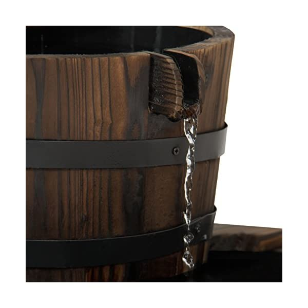 Best-Choice-Products-Outdoor-Garden-Decor-2-Tier-Wood-Barrel-Water-Fountain-W-Pump-Brown