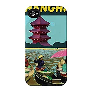 Shanhai Full Wrap High Quality 3D Printed Case for iPhone 4 / 4s by Nick Greenaway + FREE Crystal Clear Screen Protector