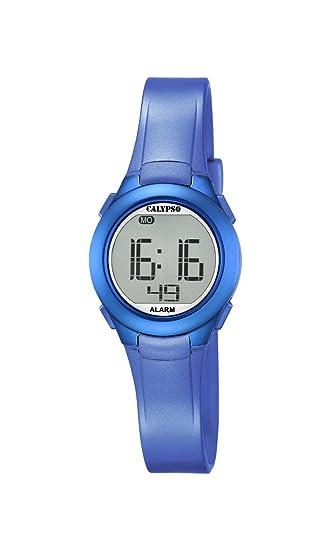 Reloj Digital Unisex con Pantalla LCD Digital y Correa de plástico Azul K5677 / 5 de Calypso: Amazon.es: Relojes