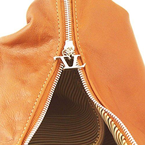 Tuscany Leather Yvette Borsa in pelle da donna Talpa scuro Cognac Barato En Línea Barata nnfDNFqEXv