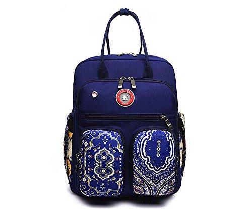 Mszyz Mochila De Gran Capacidad Y Multifunción De Doble Bolsa De Hombro Mujer Oxford Bolso De Lona,blue,36 * 29 * 11cm. Mszyz Backpack Large Capacity And Dual Multifunction Shoulder Bag Women Bag Canvas Oxford, Blue, 36 * 29 * 11cm. Blue Blue