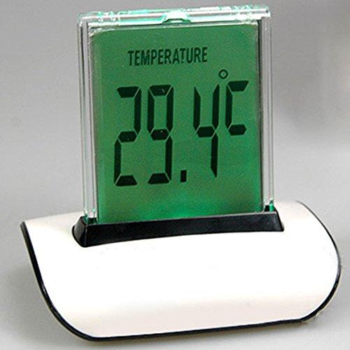 Vktech® Reloj Despertador Termometro Digital Con LED Luces Colores con Función de temperatura / Fecha / Cronómetro para Coche y Casa (Blanco): Amazon.es: ...