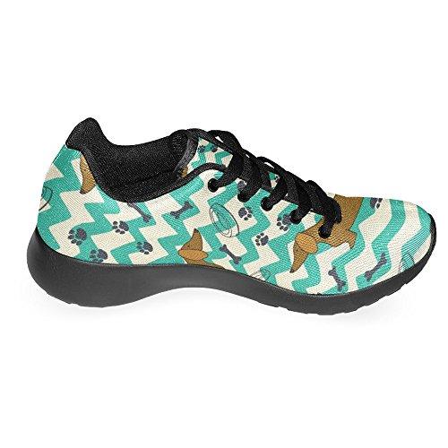 Scarpe Da Corsa Per Donna Jogging Running Leggero Leggero Easy Walking Scarpe Da Corsa Casual Sport Comfort Running Bassotto, Ossa, Impronte E Ciotole Multi 1