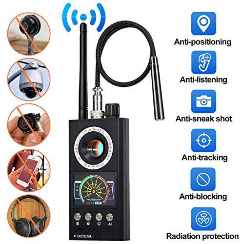 QLPP Bug Detector,RF Anti-Spy Detector Wireless Scanner,Hidden Camera Finder Pinhole Laser Lens GSM Device Finder, Spy Finder for Eavesdropping, Candid Video, GPS Tracker Laser