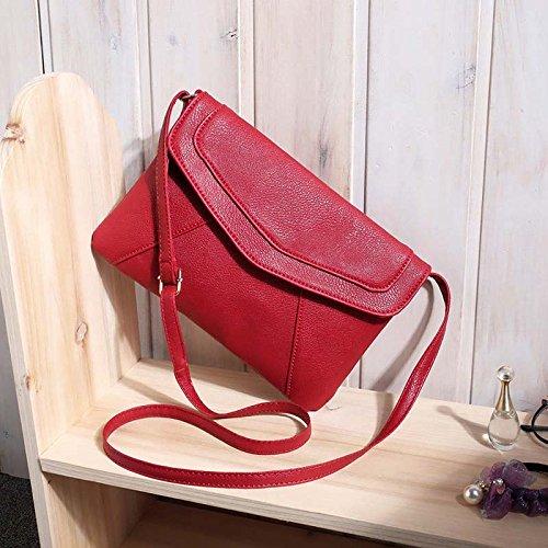 AASSDDFF Venta caliente Bolso de la Mujer Borla Cubierta Plegable Bolsa de Hombro Crossbody Sobre precio al por mayor de la Bolsa, marrón rojo